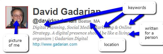 Screen Grab of My Twitter Profile as of Dec. 10, 2010