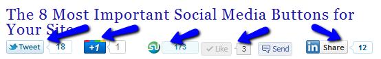 Social Sharing Buttons on Gadarian Digital