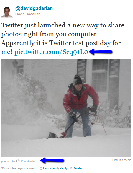 New Twitter Photo Sharing Service Picture