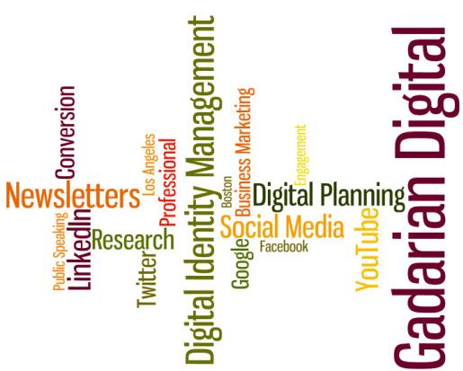 The Gadarian Digital Word Cloud - May 2012