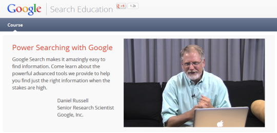 Google Power Search Course