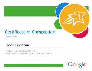 Google Power Search Certificate
